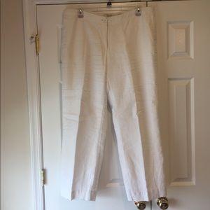 Liz Claiborne white linen pants